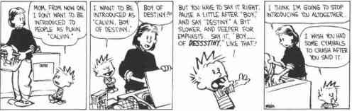 I also Amor Calvin and Hobbes because he pretty much says everything that I'm thinking only in a more clever way.