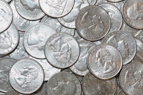 Siller coins.